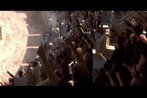 Romans cheering for Gladiators